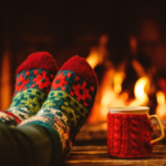 Socks by the Fireplace